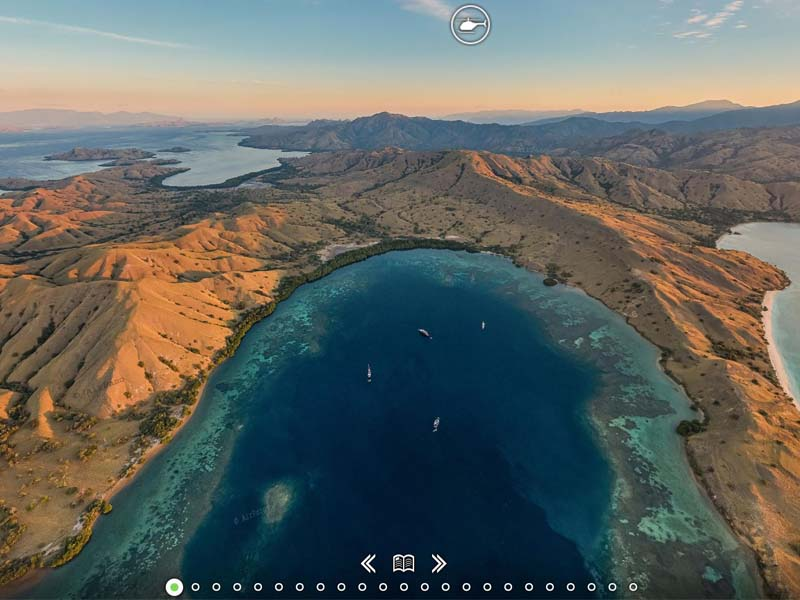360 degree view of komodo islands