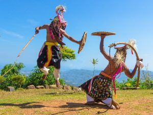 Traditional local dance in Indonesia