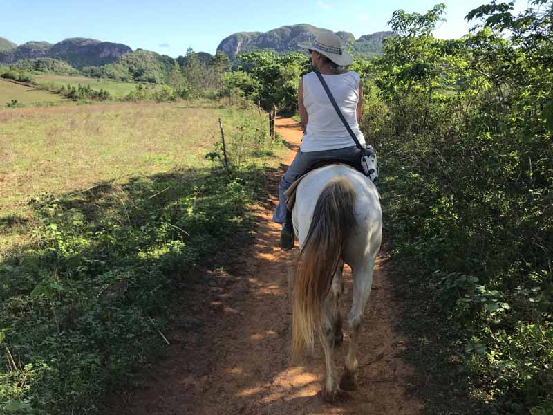 woman riding in vinales