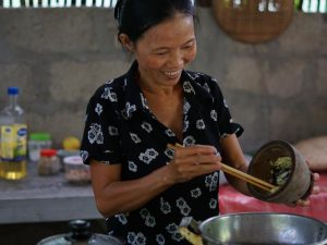 Local woman cooking