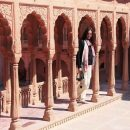 woman standing in bikaner temple