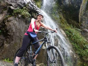 Ecuador Banos Mountain Bike Waterfall