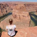 lady looking out to horseshoe bend