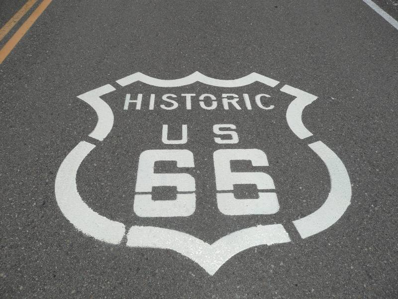 Route 66 Road Marking