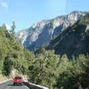 Yosemite road and mountain in usa