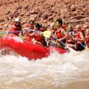 rafting rapids in a group