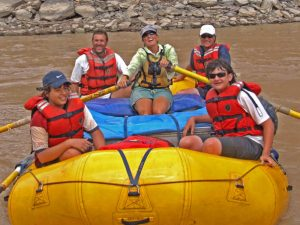 group rafting on colorado river