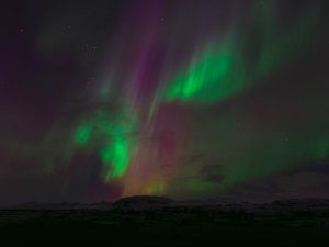 The northern lights in the night sky