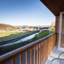 Balcony with a view of a river